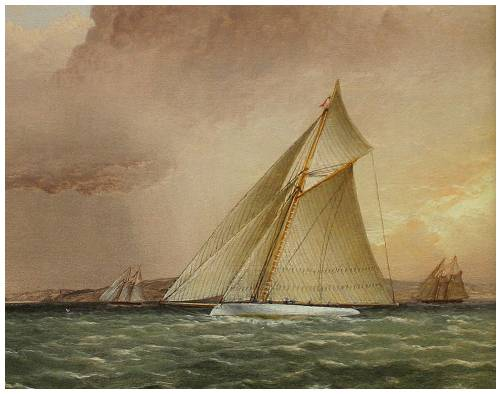 PURITAN Races Towards The Narrows Off Brooklyn