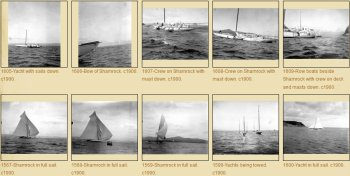 Photos of Shamrock, challenger of America's Cup 1899