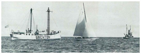 The Brenton Reef Lightship with tug and yacht